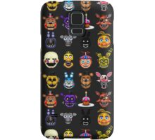 Five Nights at Freddys - Pixel art - Multiple characters Samsung Galaxy Case/Skin