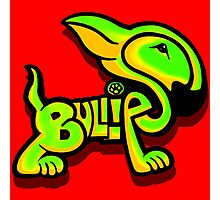 Bullies Letter Character Green and Yellow Photographic Print
