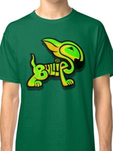 Bullies Letter Character Green and Yellow Classic T-Shirt