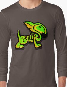 Bullies Letter Character Green and Yellow Long Sleeve T-Shirt