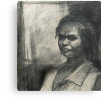 Kuntamare : charcoal portrait drawing Canvas Print