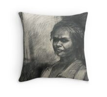 Kuntamare : charcoal portrait drawing Throw Pillow