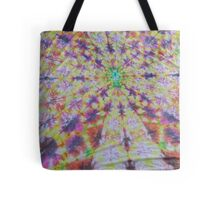 Vivid kaleidoscopic mandala Tote Bag