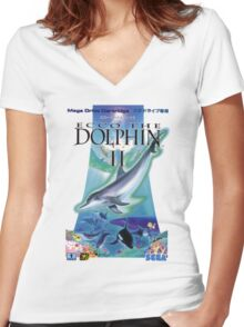 Dolphin Ecco Women's Fitted V-Neck T-Shirt