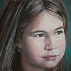 Portrait commission - Ilinca by Magda Vacariu