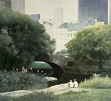 Summer Days(Central Park-New York City) by Diane Romanello