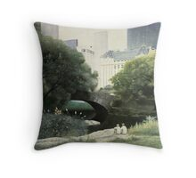 Summer Days(Central Park-New York City) Throw Pillow