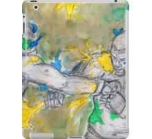 Green Painted Fight iPad Case/Skin