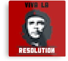 VIVA LA RESOLUTION - white Metal Print