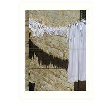 White Washing Art Print