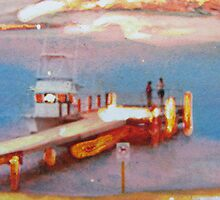 """Chatting at the jetty"" by Cynthia Fletcher"