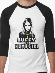 Buffy Is My Home Girl Men's Baseball ¾ T-Shirt
