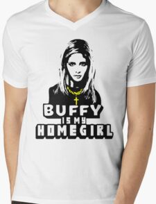 Buffy Is My Home Girl Mens V-Neck T-Shirt