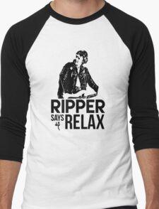 Ripper Says Relax Men's Baseball ¾ T-Shirt