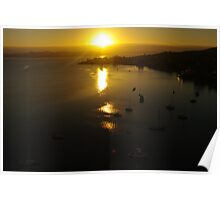 Waterscape: View of Hobart harbour, Tasmania II Poster