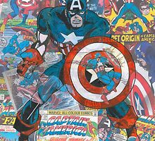 Vintage Comic Captain America by Daveseedhouse