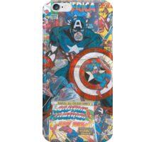 Vintage Comic Captain America iPhone Case/Skin