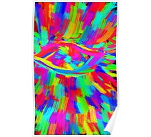 Technicolor eye digital painting Poster
