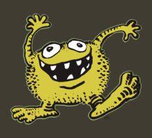 Cute Cartoon Yellow Monster