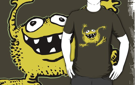 Cute Cartoon Yellow Monster by Cheerful Madness!! by cheerfulmadness