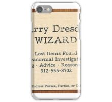 Harry dresden cards iPhone Case/Skin