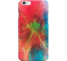 Pink and turquoise liquid light art by 710Visuals iPhone Case/Skin