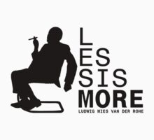 Less Is More Silhouette Mies Van Der Rohe Architecture Tshirt by pohcsneb