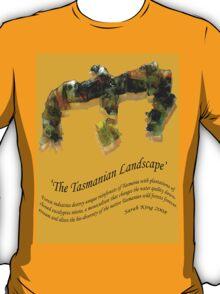 Landscape Tasmania Yellow T-Shirt