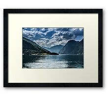 Beautiful fjords in Norway Framed Print