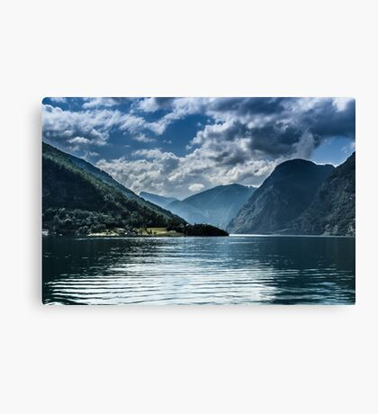 Beautiful fjords in Norway Canvas Print