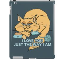 I Love You Funny Cat Graphic Saying iPad Case/Skin