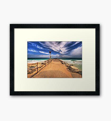 City Beach Groyne Framed Print