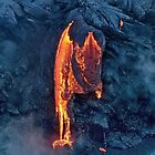 Lava Flow at Kalapana 8 by Alex Preiss