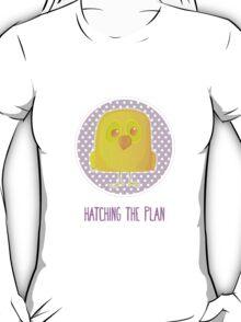 Hatching The Plan - Yellow Bird Easter Card T-Shirt