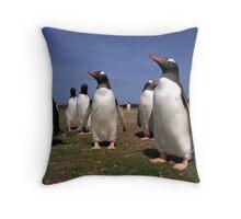 Gentoo penguins Throw Pillow