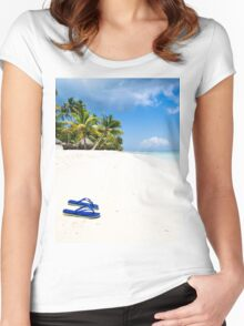 Escape from paradise Women's Fitted Scoop T-Shirt