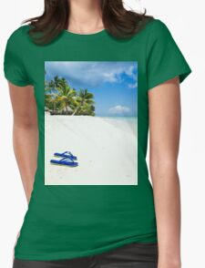 Escape from paradise Womens Fitted T-Shirt