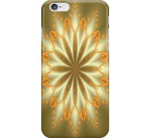 Abstract Flower in Silver and Gold iPhone Case/Skin