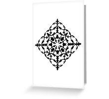 taj mahal engraving - papercut pattern Greeting Card