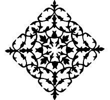 taj mahal engraving - papercut pattern Photographic Print