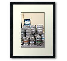 Beer barrels Framed Print