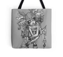 Greytone shamanic priestess illustration Tote Bag