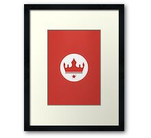 Crown of The New Monarchy Emblem Framed Print
