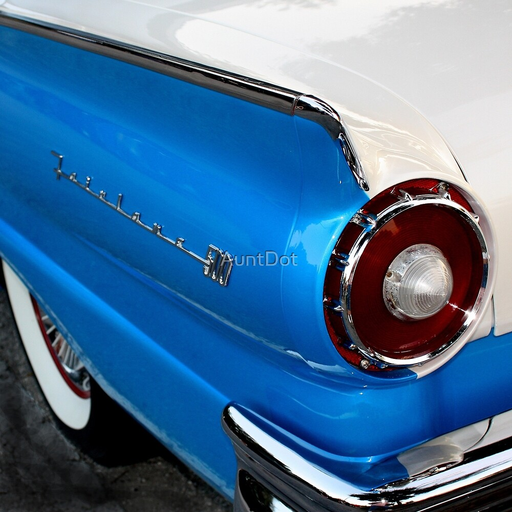 1957 Ford Fairlane 500, Tail Light View by AuntDot