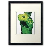 Hal Jordan, Will Power. Framed Print