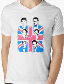 British men Mens V-Neck T-Shirt