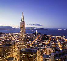 San Francisco Financial District Aerial View by heyengel