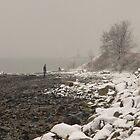 Snow on the beach by Elisabeth Wyrwicz