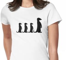 Meerkat family Womens Fitted T-Shirt
