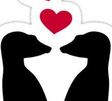 Meerkats red hearts love Sticker
